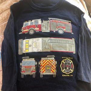 GAP boys fire truck long sleeve tee shirt.